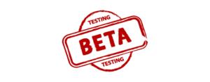 Beta test banner