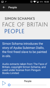 Face of Britain App - Stations are activated with BLE Beacons