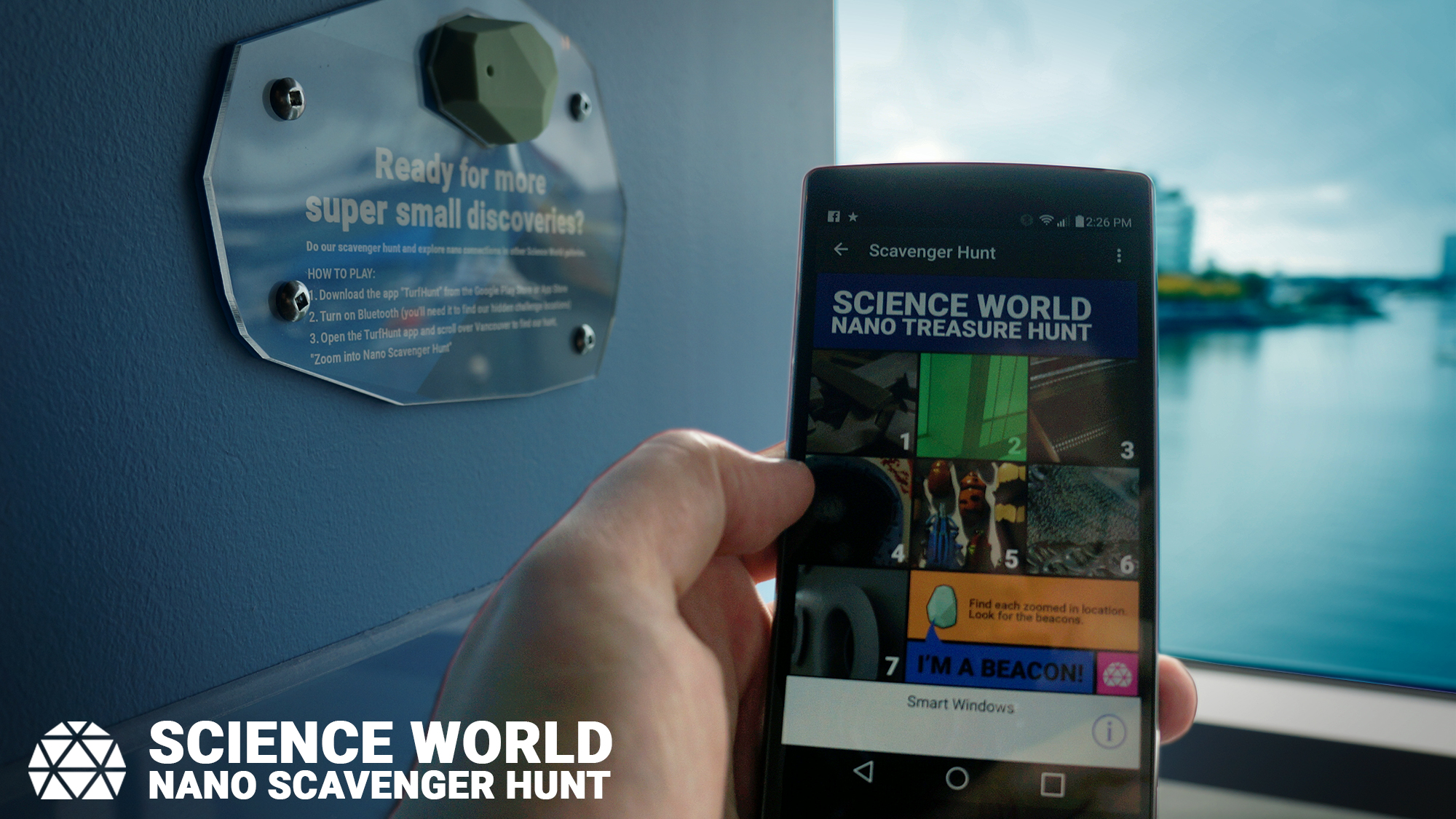 Science World - Zoom Into Nano Treasure Hunt Game & Estimote BLE Beacon