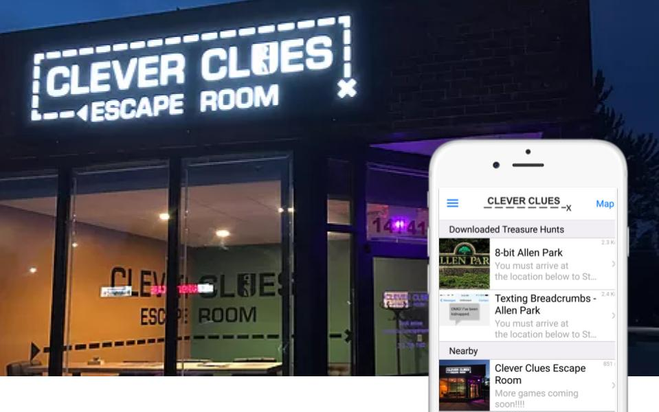 Clever Clues Escape Room app