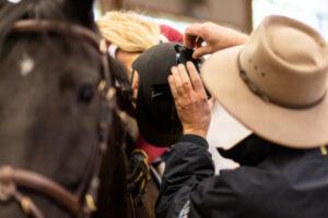 UWB locator tag on helmet