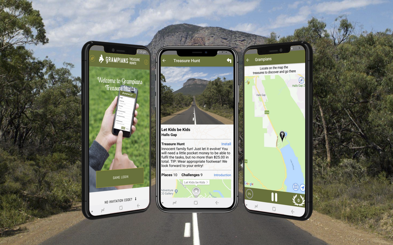 Grampians treasure hunts app by locatify