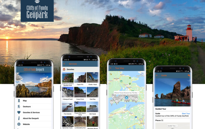 Cliffs of Fundy GeoPark App released for Nova Scotia Canada