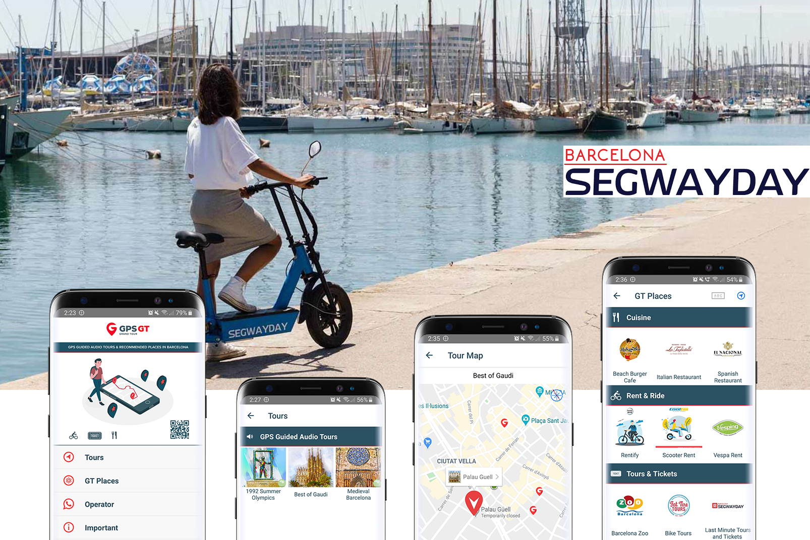 GPS Grand Tour barcelona app by Locatify
