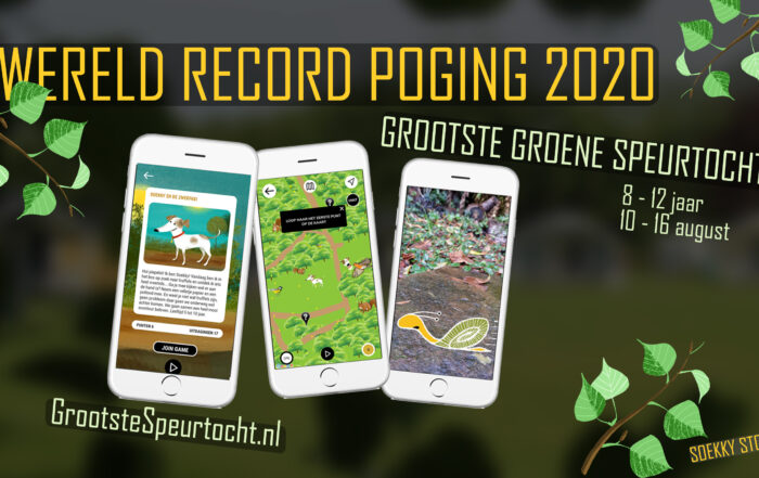World Record Green Scavenger Hunt attempt with Soekky Stories Grootste Groene Speurtocht